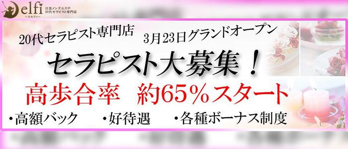 東京メンズエステ20代セラピスト専門店目黒メンズエステ「elfi-エルフィ」のバナー画像
