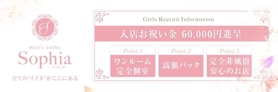 名古屋人気メンズエステ店SOPHIAのバナー画像