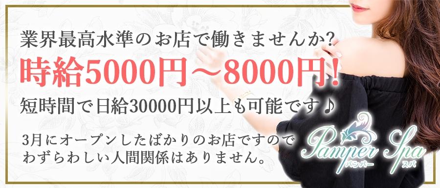 関西人気メンズエステ店Pamper Spaのバナー画像